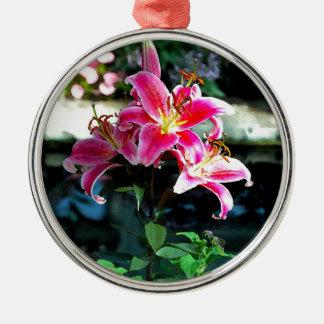 Flowers 349 metal ornament