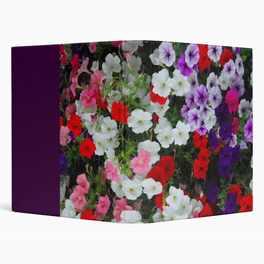 flowers 3 ring binder