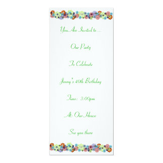 Flowers 4x9.25 Paper Invitation Card