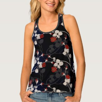 Flowers 841 - Racerback Tank Top