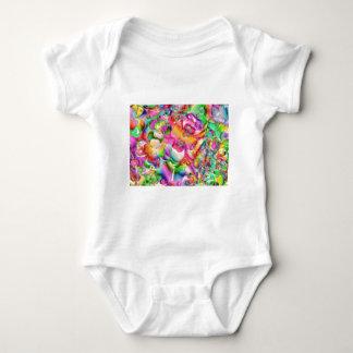 flowers-84853 COLORFUL CLOVER FLOWERS DIGITAL ART Baby Bodysuit