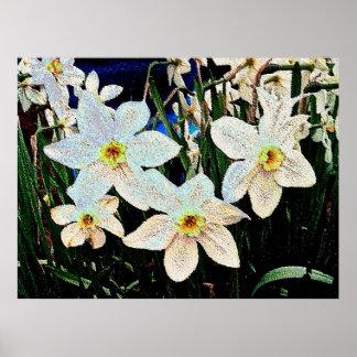 Flowers 9 enamel poster