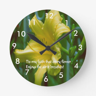 Flowers, a symbol of faith round clock