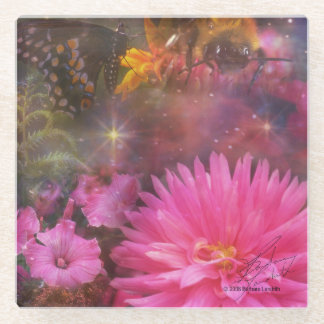 Flowers - A Visual Bouquet for Mom Glass Coaster