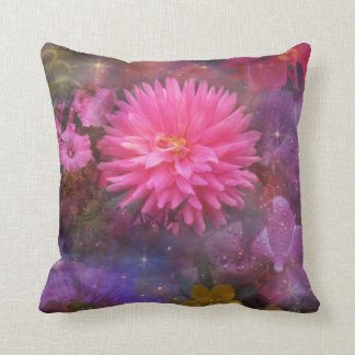 Flowers - A Visual Bouquet for Mom Throw Pillow