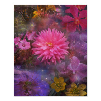 Flowers - A Visual Bouquet for Mom Poster
