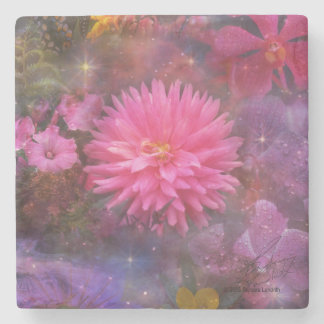 Flowers - A Visual Bouquet for Mom Stone Coaster