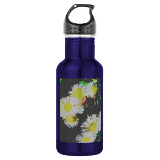 Flowers abstract water bottle