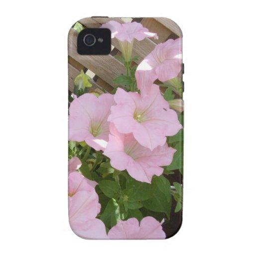 Flowers Against Lattice Background Case-Mate iPhone 4 Cover