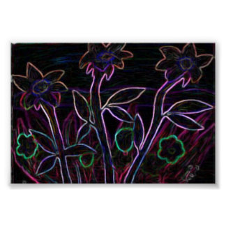 Flowers Aglow Poster