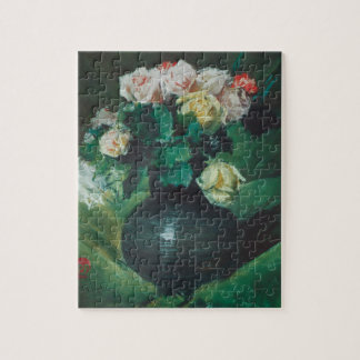 Flowers (aka Roses) by William Merritt Chase Jigsaw Puzzle