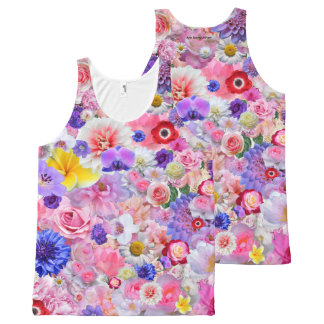 Flowers All-Over-Print Tank Top