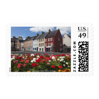 Flowers Along A Street In A Residential Area Postage