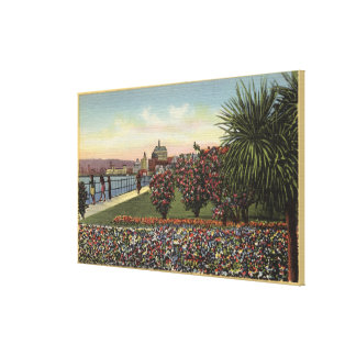 Flowers along East Ocean Avenue Canvas Print