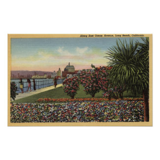 Flowers along East Ocean Avenue Poster