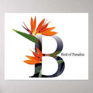 Flowers Alphabet Poster