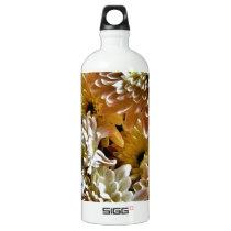 Flowers Aluminum Water Bottle