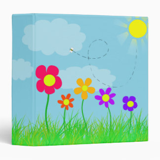 Flowers and a Bee 3 Ring Binder