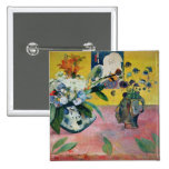 Flowers and a Japanese Print, 1889 2 Inch Square Button