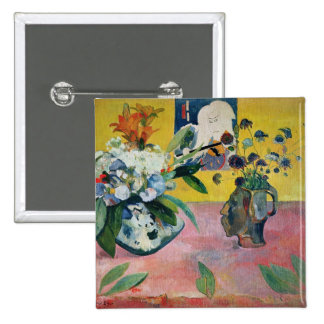 Flowers and a Japanese Print, 1889 Pinback Buttons