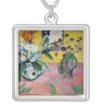 Flowers and a Japanese Print, 1889 Square Pendant Necklace