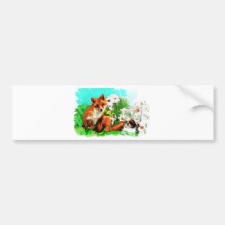 flowers and a scratch bumper sticker