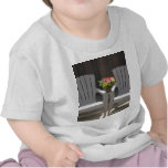 Flowers and Adirondack Chairs T Shirts