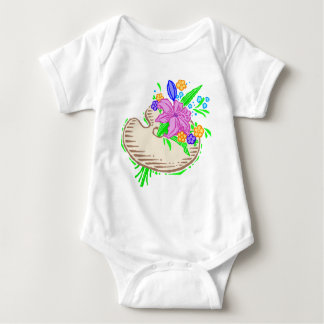 FLowers and Artist Palette Baby Bodysuit
