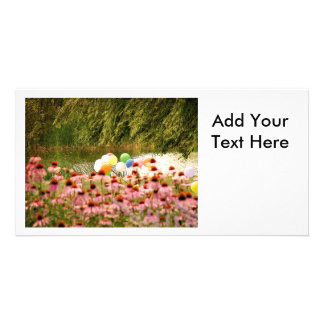 Flowers and Balloons Card