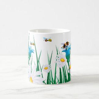 Flowers and Bees Coffee Mug