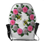 flowers and  bees commuter bag