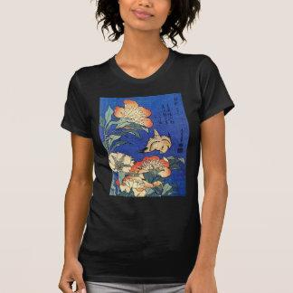 Flowers and Bird, Hokusai Shirt