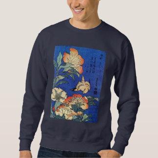 Flowers and Bird, Hokusai Sweatshirt