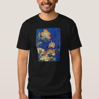 Flowers and Bird, Hokusai T Shirts