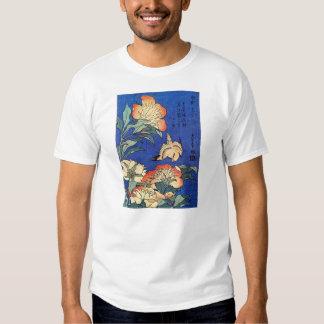 Flowers and Bird, Hokusai T-shirts