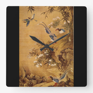 Flowers and Bird', Hsiao Yung_The Orient Square Wall Clock