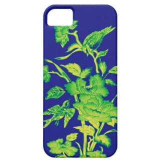 Flowers and Birds,Graphic Design Blue,Yellow,Green iPhone 5 Covers