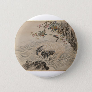 Flowers and Birds - Japanese (Edo Period) Button
