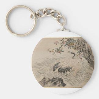 Flowers and Birds - Japanese (Edo Period) Keychain
