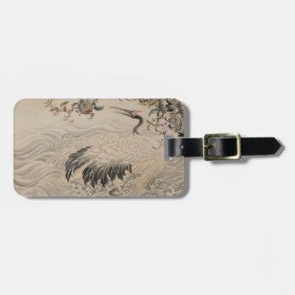 Flowers and Birds - Japanese (Edo Period) Luggage Tag