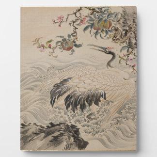 Flowers and Birds - Japanese (Edo Period) Plaque