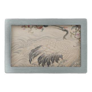 Flowers and Birds - Japanese (Edo Period) Rectangular Belt Buckle