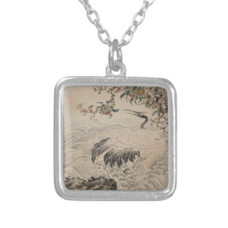 Flowers and Birds - Japanese (Edo Period) Silver Plated Necklace