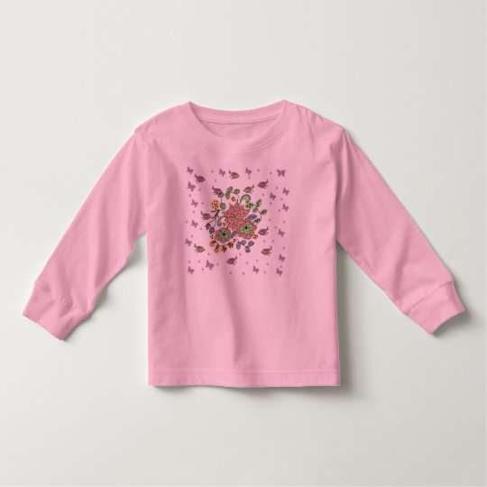 flowers and birds toddler t-shirt