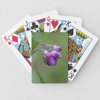 Flowers and blossoms of common comfrey bicycle playing cards