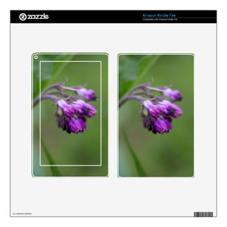 Flowers and blossoms of common comfrey kindle fire decal