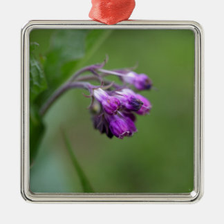 Flowers and blossoms of common comfrey metal ornament