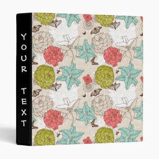 flowers and butterflies 3 ring binder