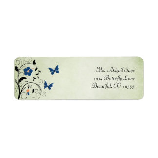 Flowers and Butterflies Address Label