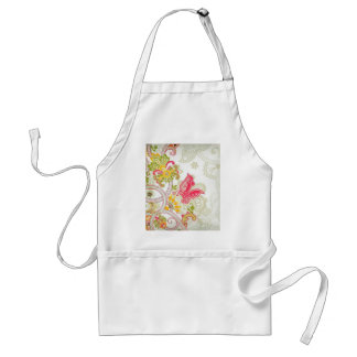 flowers and butterflies aprons